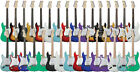 Left Hand Electric Guitar Strat Style Black Red Sunburst Purple Greeen plus more