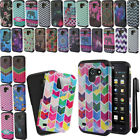 For Huawei Tribute 4G LTE Y536A1 Layer Slim TPU Hybrid Hard Case Cover + Pen