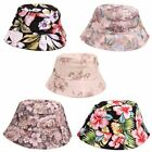 U106 LADIES WOMENS FLORAL DESIGN FESTIVAL SUN BEACH HOLIDAY WEAR BUCKET HAT NEW
