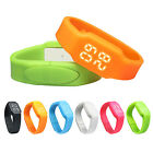 LED Temperature Sports Health Pedometer Calories Smart Watch Bracelet Wrist Band