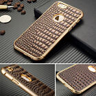 For Apple iPhone 6 4.7Plus New Leather Aluminum Metal Shockproof Case Thin Cover