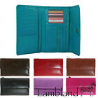 Ladies Slim Genuine Soft Leather Purse with Magnetic Fastening