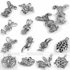 Vintage Tibeten Silver Hollow Animal Owl Rabbit Pendant Charm Fit Necklace DIY