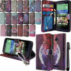 For HTC Desire 510 Flip Wallet LEATHER Skin POUCH Case Phone Cover + Pen