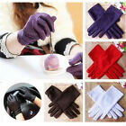 Pop Fashion Ladies Satin Short Gloves Wedding Bridal Evening Party Sexy Costume