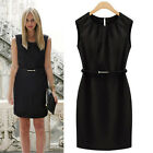 New Fashion Womens Slim Sleeveless Solid Evening Sexy Party Cocktail Mini Dress