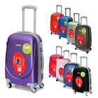 "HARD SHELL ABS 20"" CARRY ON HAND SPINNER LUGGAGE TROLLEY CABIN APPROVED SUITCASE"
