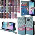 For Samsung Galaxy S6 Edge G925 Flip Wallet LEATHER POUCH Case Phone Cover + Pen
