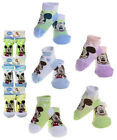 Disney Mickey Mouse Booties Socks Infant Baby Socks 6-12 ~ 0-24 Months NEW
