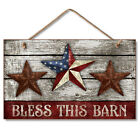 Western Lodge Cabin Decor ~Bless This Barn~  Wood Sign W/ Rope Cord