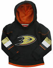 Reebok NHL Hockey Kids / Youth Anaheim Ducks Zip Up Faceoff Hoodie - Black