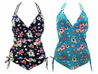 Womens Tankini Set Vest Top + Bottoms Summer Beach Ladies Swimwear Size UK 8-16
