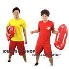 LIFEGUARD COSTUME WITH WIG & FREE FLOAT THE HOFF FANCY DRESS LIFE GUARD BEACH