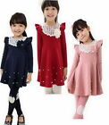 Girls Kids Dresses Skirt Clothes 1-Pcs Set 2-7Y Baby School Toddler Costume Top