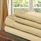 Chic Home Pleated Microfiber Sheet Gold - Twin, Full, Queen, King