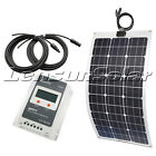 Lensun 80W 100W 12V Flexible Solar Panel Perfect Kit, MPPT Regulator, 5M Cables
