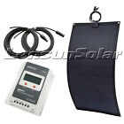 80W 100W 12V Black Flexible Solar Panel Kit, 10A MPPT LCD Regulator and 5m Cable