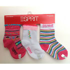 3 PAIRS Socks - ESPRIT 3-pk Infant Baby Toddler Girl Pink Size 0-6 / 6-12 Months