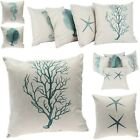 "18"" Cotton Linen Deep Sea World Sofa Home Decor Throw Pillow Case Cushion Cover"