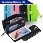 Samsung Galaxy S6 G9200 Case Magnet Leather Coins Wallet Cover