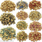Jewelry Making 50PCS Rhinestone Golden Plated Spacer Loose Rondelle Beads 8mm