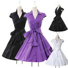 CHEAP WOMENS 50's 60S VICTORIAN ROCKABILLY VINTAGE STYLE DRESS RETRO PINUP GOWNS