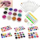 Multi Color Nail Art Glitter Powder For UV Gel Acrylic Powder Decoration+Pen Kit