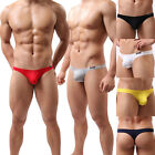 Men's Stylish Low Rise Comfy Underwear Briefs Thongs Bulge Pouch G-String T-back