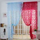 Fashion Butterfly Pattern Sheer Curtain  Window Balcony Tassel  Room Divider New
