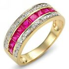 For Women Size 6,7,8,9,10 Red Ruby 10KT Gold Filled Band Fantast Engagement Ring