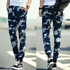 Fashion Mens Blue Camouflage Casual Harem Baggy Sport Sweat Pants Trousers New