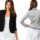 Women Casual Suit POLO Collar Short Business Blazer Single Breasted Coat Fashion