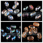 10pcs 20x11mm Rugby Bicone Faceted Crystal Glass Loose Bead Jewelry DIY Finding