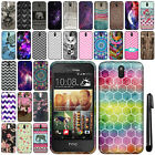 For HTC Desire 612 Cute Design TPU SILICONE Rubber Soft Case Phone Cover + Pen