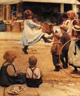 AN IMPROMPTU BALL CHILDREN PLAYING ON THE STREET 1899 PAINTING BY EVA ROOS REPRO