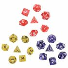 7Pcs Sided Die D4 D6 D8 D10 D12 D20 DUNGEONS & DRAGONS D&D RPG Poly Dice Game
