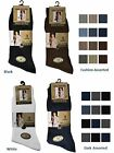 6 Mens Ribbed 100% Cotton Soft Top Elastic Socks / UK 6-11