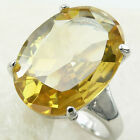 r83 CITRINE QUARTZ oval gem .925 sterling silver selectable size simplicity ring