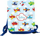 Kindergarten backpack Variant with his own name with aircraft Rosti Mepal