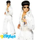 Elvis Presley Jewelled Jumpsuit Costume Rock Star Suit Fancy Dress Outfit