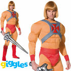 He-Man Costume Masters of the Universe Prince Adam Fancy Dress Costume Outfit