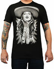 Men's Ranchera by Spider Tattooed Sexy Latina Mexican Cowgirl Sombrero T-Shirt