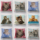 Printed Kitten cushions with cushion pad for indoors or outdoors garden cushions