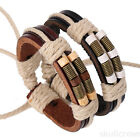 Fashion Braided  Women Men Handmade Bangle Leather Bracelet  Mens Chain New