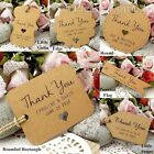 Personalised Mini Kraft Wedding Favour Tags/ Thank You Tags/ Gift Tags