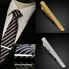 Stylish Mens Boys Metal Silver Gold Simple Necktie Tie Bar Clasp Pin Clip Gift
