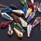 10pcs 8x20mm Faceted Teardrop Glass Crystal Hanging Drop Findings Pendant Beads