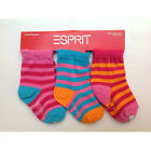 3 PAIRS Socks ESPRIT 3-pk Infant Baby Toddler Girl Size 0-6 / 6-12 / 12-18 Month