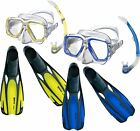 Adult FULL Snorkel Set Combo - SILICONE Mask, Fins, Snorkel - Great for holidays