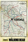 The Walking Dead - Terminus Map - TV-Serie Film Poster Druck - Größe 61x91,5 cm